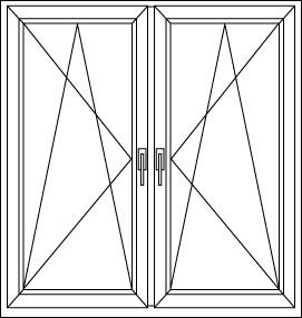 Kétszárnyú ablak melynek mindkét oldala bukó-Nyíló és mindkét szárny nyitott állapotában is középen függőlegesen tokosztó található. Alkalmazása akkor javasolt ha külső redőnyt szeretnénk az ablakra és nagyon nagy lenne a fesztás, ilyenkor két kisebb redőnyt kell alkalmazni és a középső tokosztón lehet a lefutókat rögzíteni.